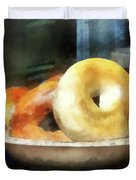 Food - Bagels For Sale Duvet Cover