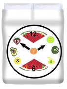Food Clock Duvet Cover
