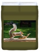 Food Fight Squirrel And Chipmunk Duvet Cover