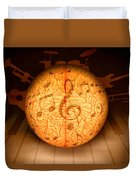 Food For Brain And Peace For Soul Duvet Cover