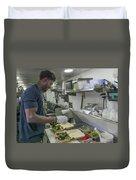 Food Truck Worker Duvet Cover