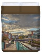 Foot Bridge At Gas Street Basin  Birmingham Duvet Cover