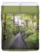 Foot Bridge In Costa Rica Duvet Cover