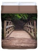 Foot Bridge Waiting Duvet Cover