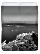 Foot Of 9th Line South Bw  Duvet Cover