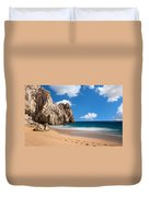 Foot Prints In Cabo Duvet Cover
