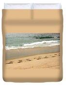 Foot Prints In The Sand.jpg Duvet Cover