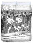 Foot Race, 1868 Duvet Cover