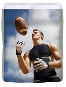 Football Athlete I Duvet Cover by Kicka Witte - Printscapes