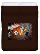 Football Derby Rams Against Swansea Swans Duvet Cover