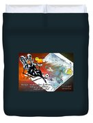 Football Derby Rams On Holidays By The Sea Duvet Cover
