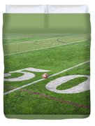 Football On The 50 Yard Line Duvet Cover
