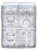 Football Patent History Blueprint Duvet Cover