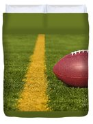 Football Short Of The Goal Line Close Duvet Cover