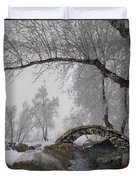 Footbridge Over The Creek Duvet Cover