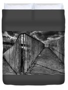 Footbridge Railings Duvet Cover