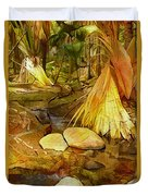 Footpath In National Park Duvet Cover