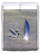 Footprint And Feather Duvet Cover