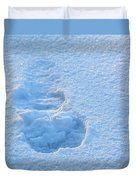 Footprint In The Snow Duvet Cover