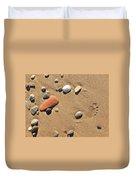 Footprint On Sand Duvet Cover