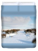 Footprints In The Snow Iv Duvet Cover