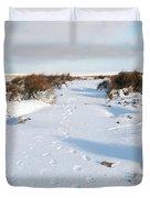 Footprints In The Snow V Duvet Cover