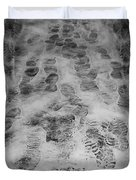 Footprints Duvet Cover