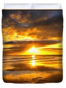 Footsteps  Beneath The Sunset I  Duvet Cover