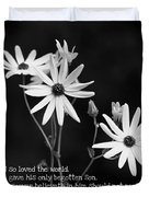 For God So Loved Black-eyed Susan Flower Duvet Cover