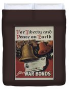 For Liberty And Peace On Earth Duvet Cover