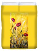 For The Love Of Poppies Duvet Cover