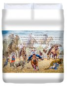 For The Love Of Rodeo II Duvet Cover