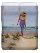 For The Love Of The Sea Duvet Cover by Laura Lee Zanghetti