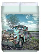 For Whom The Truck Tows Duvet Cover