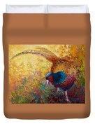 Foraging Pheasant Duvet Cover