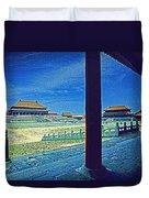 Forbidden City Porch Duvet Cover