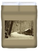 Forbidden Drive In Winter Duvet Cover by Bill Cannon