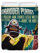 Forbidden Planet In Cinemascope Retro Classic Movie Poster Duvet Cover