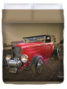 Ford Coupe Cartoon Photo Abstract Duvet Cover