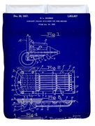 Ford Engine Lubricant Cooling Attachment Patent Drawing 1c Duvet Cover