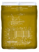 Ford Engine Lubricant Cooling Attachment Patent Drawing 1d Duvet Cover