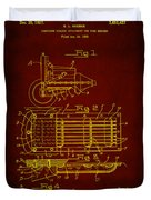 Ford Engine Lubricant Cooling Attachment Patent Drawing 1h Duvet Cover