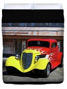 Ford Flaming Hot Rod Duvet Cover