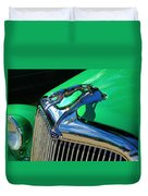 Ford Greyhound Hood Ornament Duvet Cover