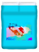 Ford Gt Watercolor  Duvet Cover