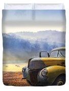 Ford In The Fog Duvet Cover