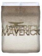 Ford Maverick Badge Duvet Cover