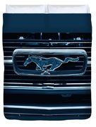 Ford Mustang Grille Duvet Cover