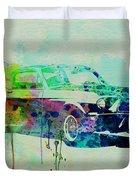 Ford Mustang Watercolor 2 Duvet Cover