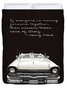 Ford Success Poster Duvet Cover